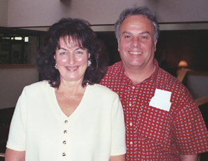 Bonnie Taylor and Dr. Gary Haagen at the Salt Lake City Conference in 2000